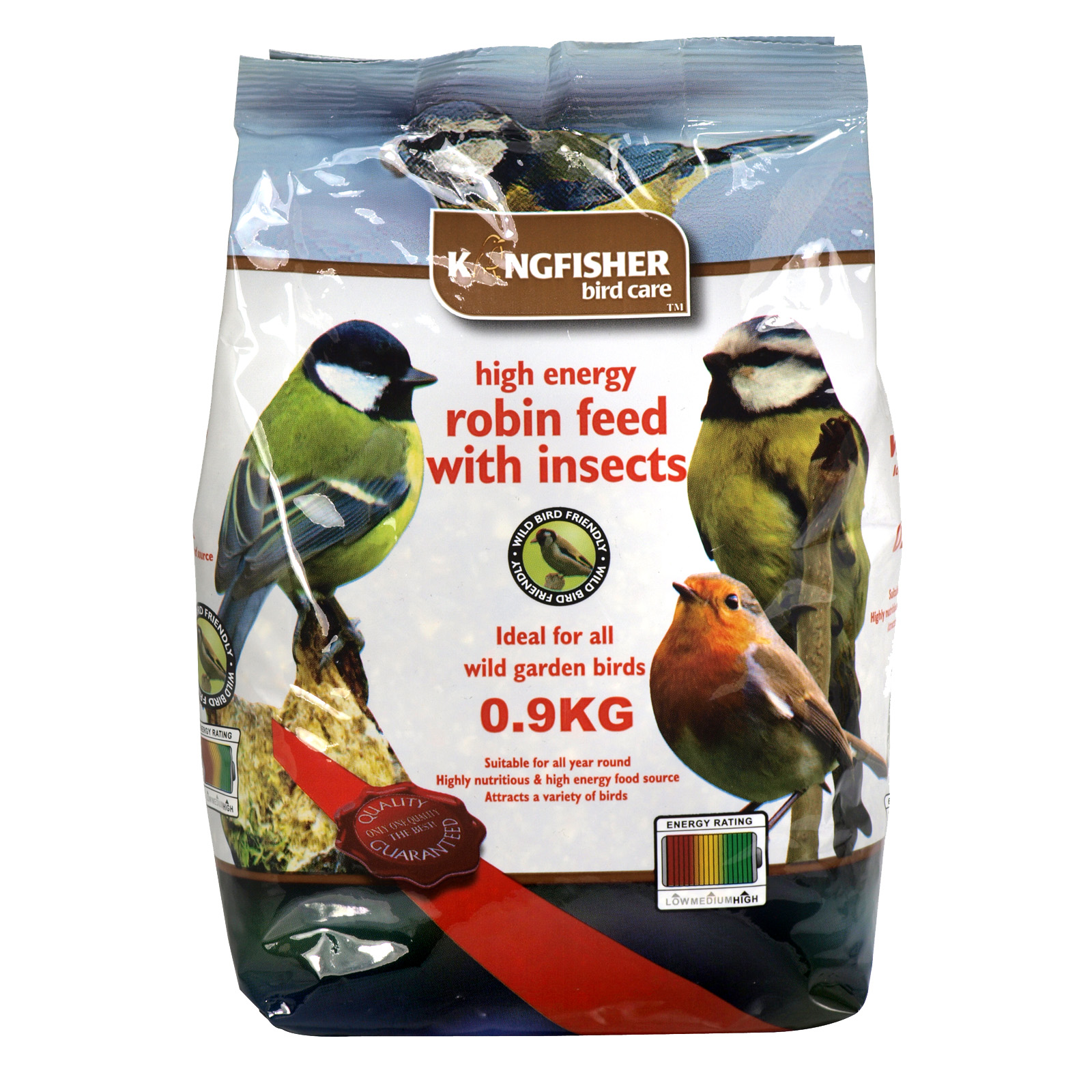 KINGFISHER ROBIN FEED+INSECTS 0.9KG