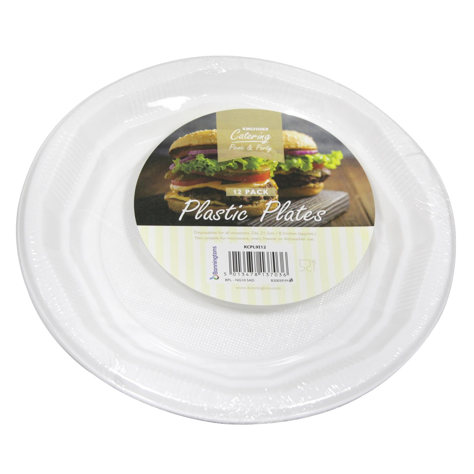 KINGFISHER 12 PLASTIC PLATES 8.5