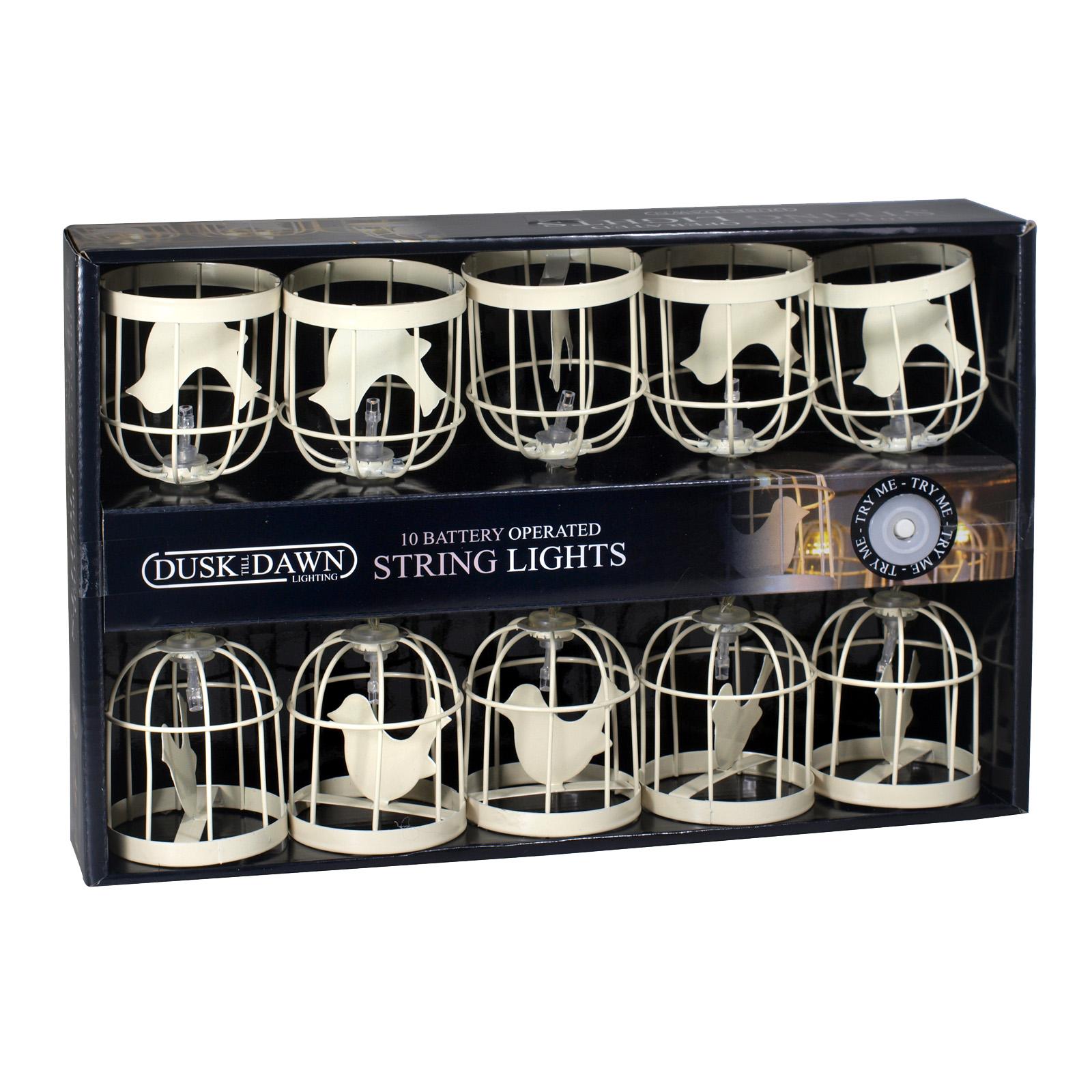 DUSKTILLDAWN B/O 10 INDOOR STRING LIGHTS BIRD CAGE