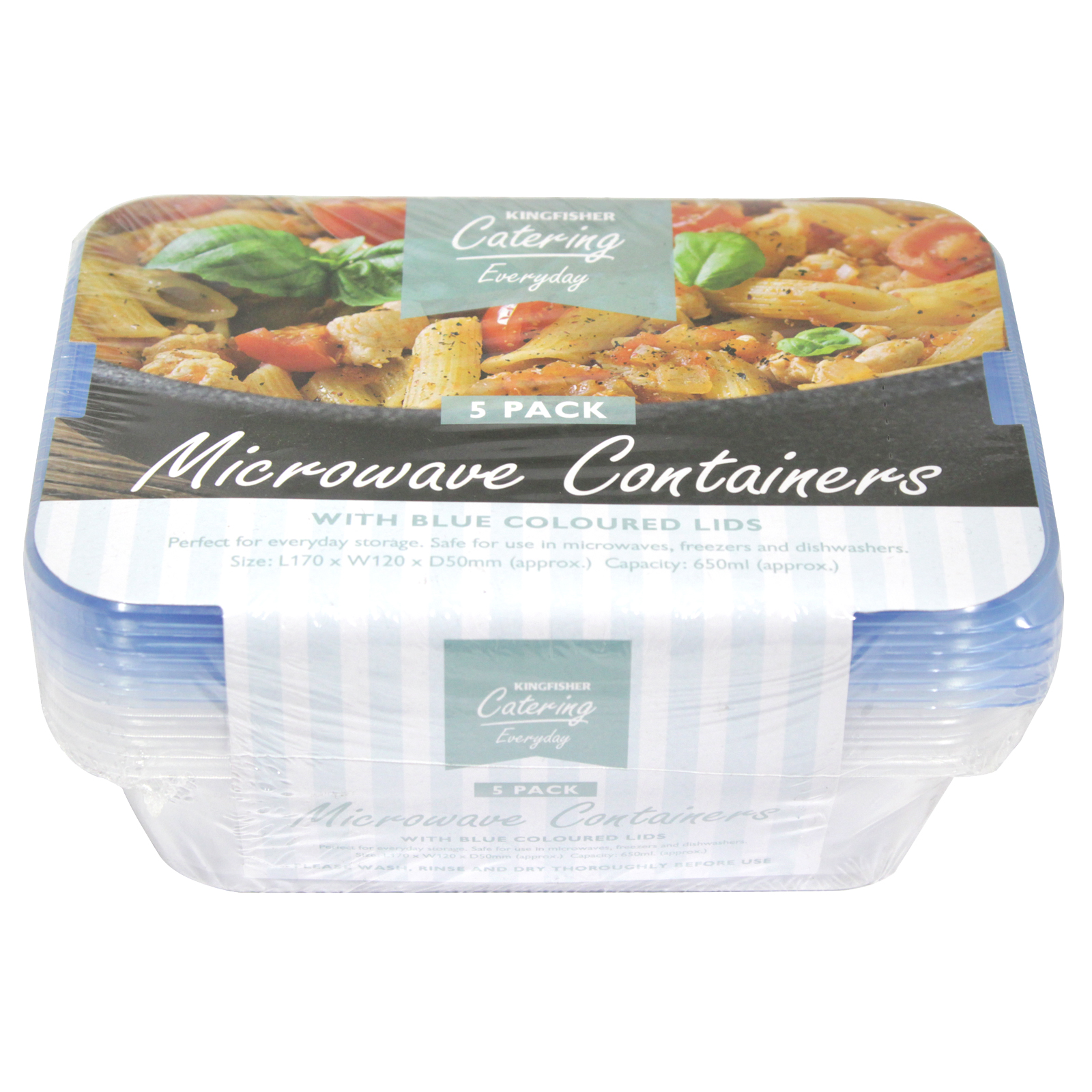KINGFISHER 5PK MICROWAVE CONTAINER+LID
