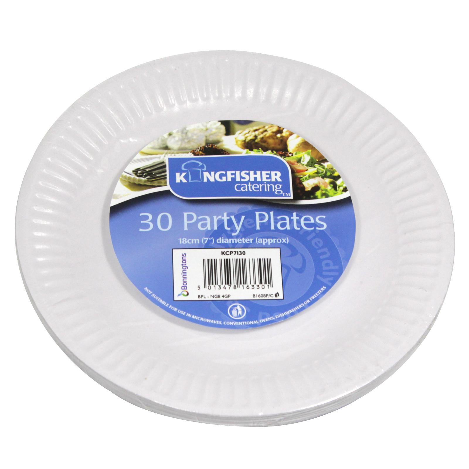 KINGFISHER 30X7 PAPER PLATES WHITE 10 FREE PLATES