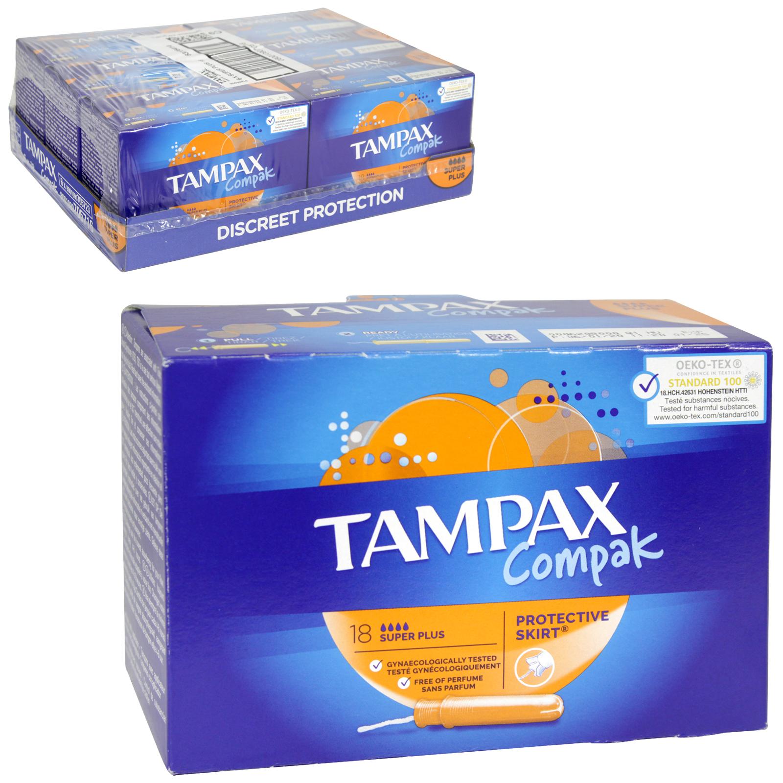 TAMPAX COMPAK 18S SUPER PLUS X6