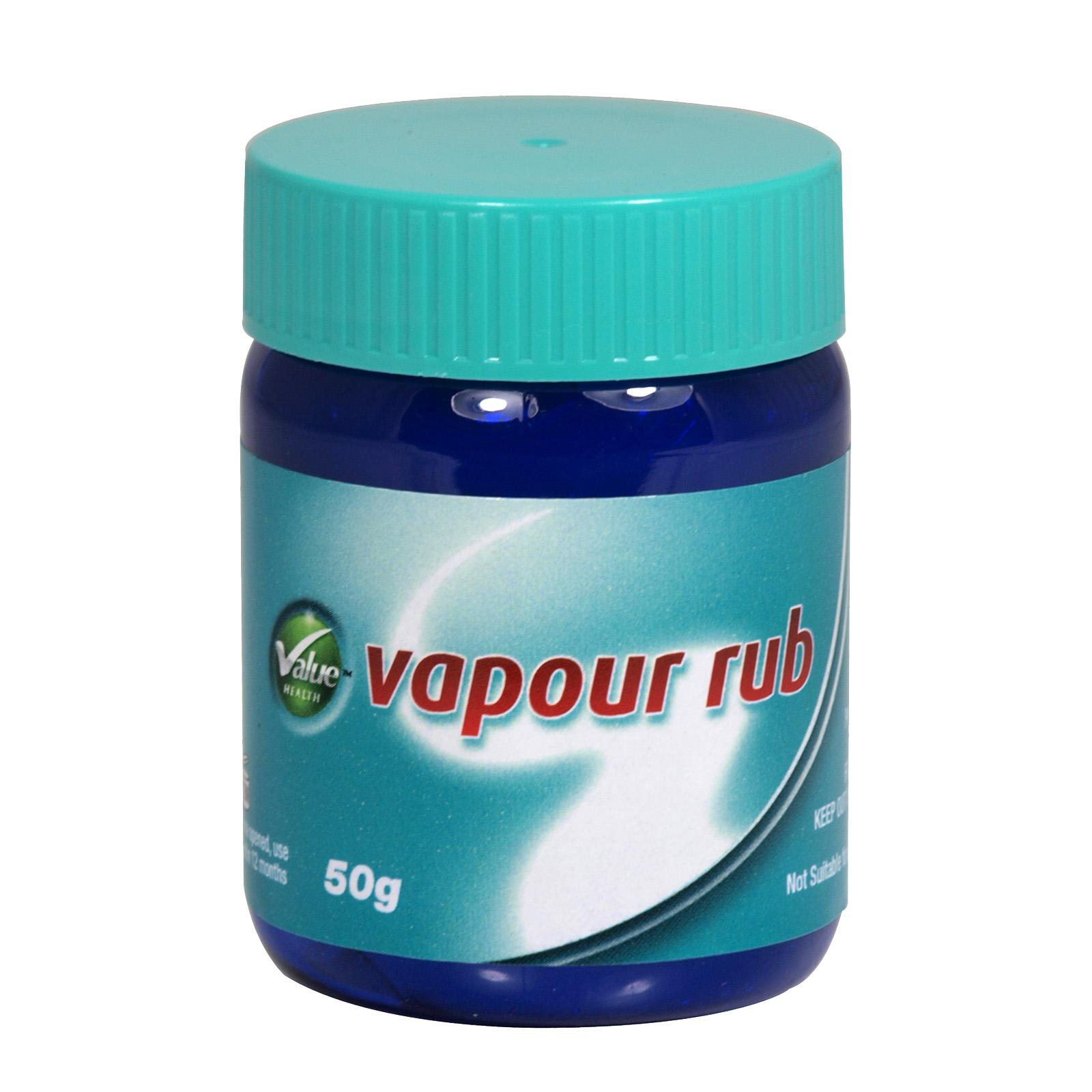 VALUE HEALTH VAPOUR RUB 50GM X3 (NON RETURNABLE)