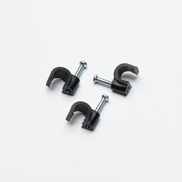 STARPACK CABLE CLIP ROUND BLACK 6.0MM QTY:50