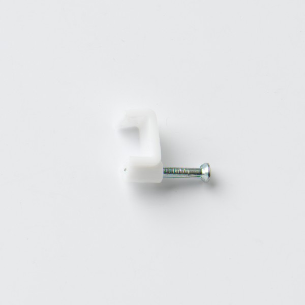 STARPACK CABLE CLIP FLAT TW & E WHITE 1.0MM QTY:35