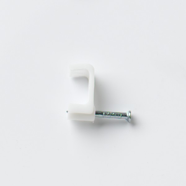STARPACK CABLE CLIP FLAT TW & E WHITE 6.0MM QTY:18