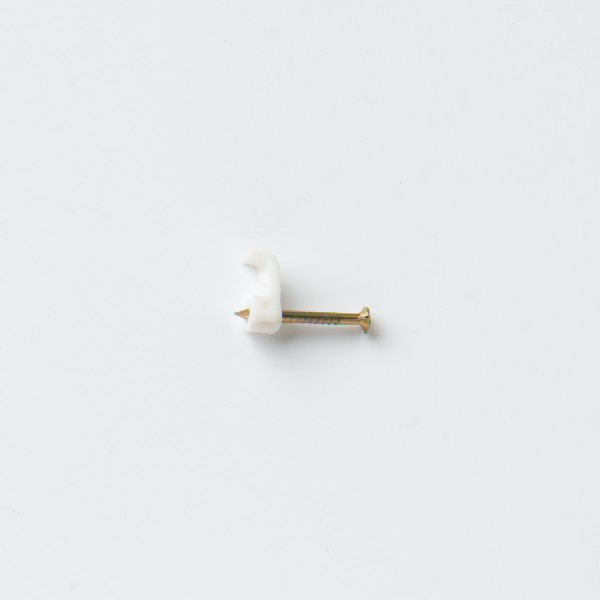 STARPACK CABLE CLIP BELL WIRE WHITE QTY:50