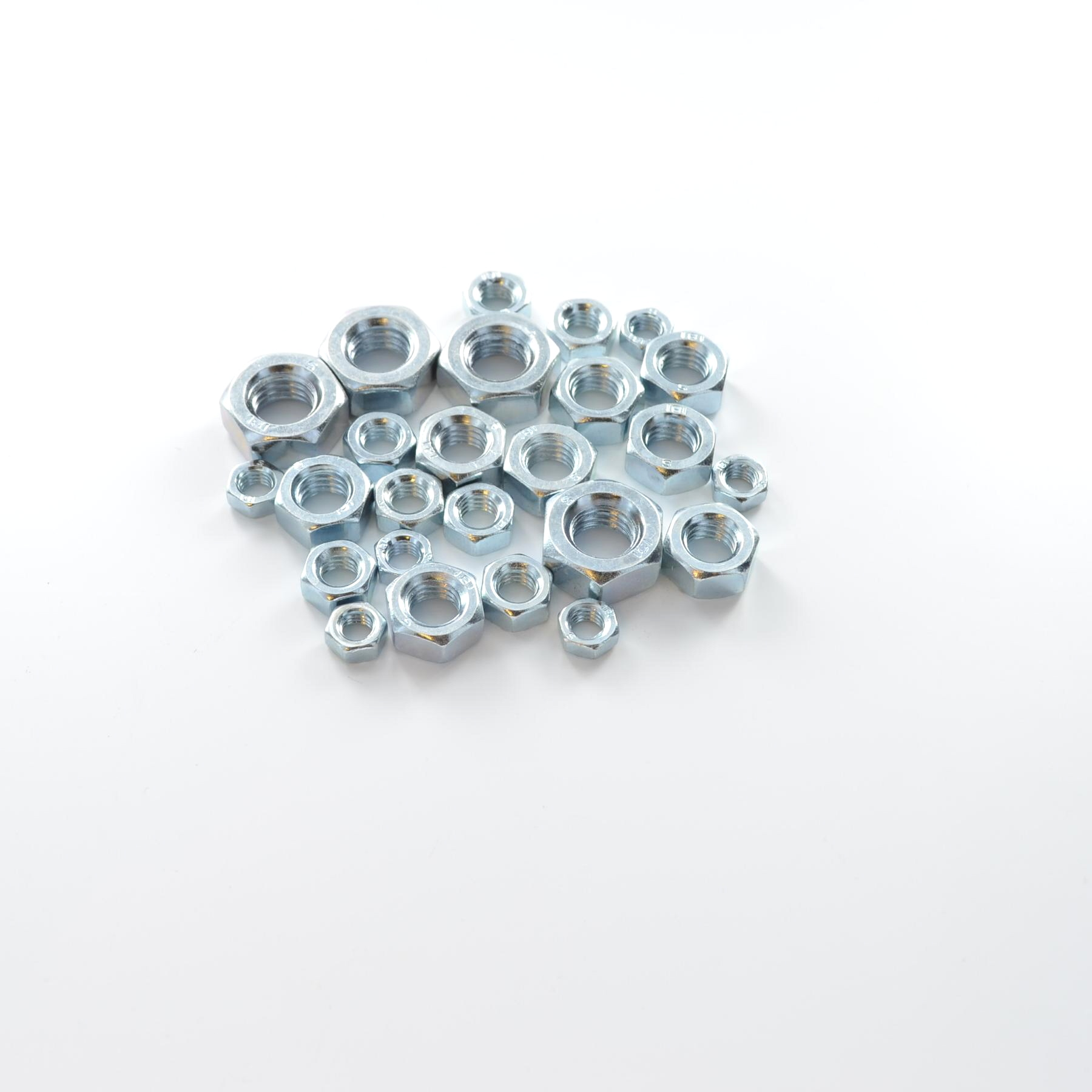 STARPACK ASSORTED HEX NUTS STEEL BZP QTY:25