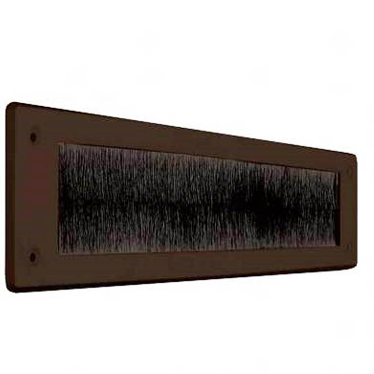 LETTER BOX DRAUGHT EXCLUDER WITHOUT FLAP BROWNQTY:1
