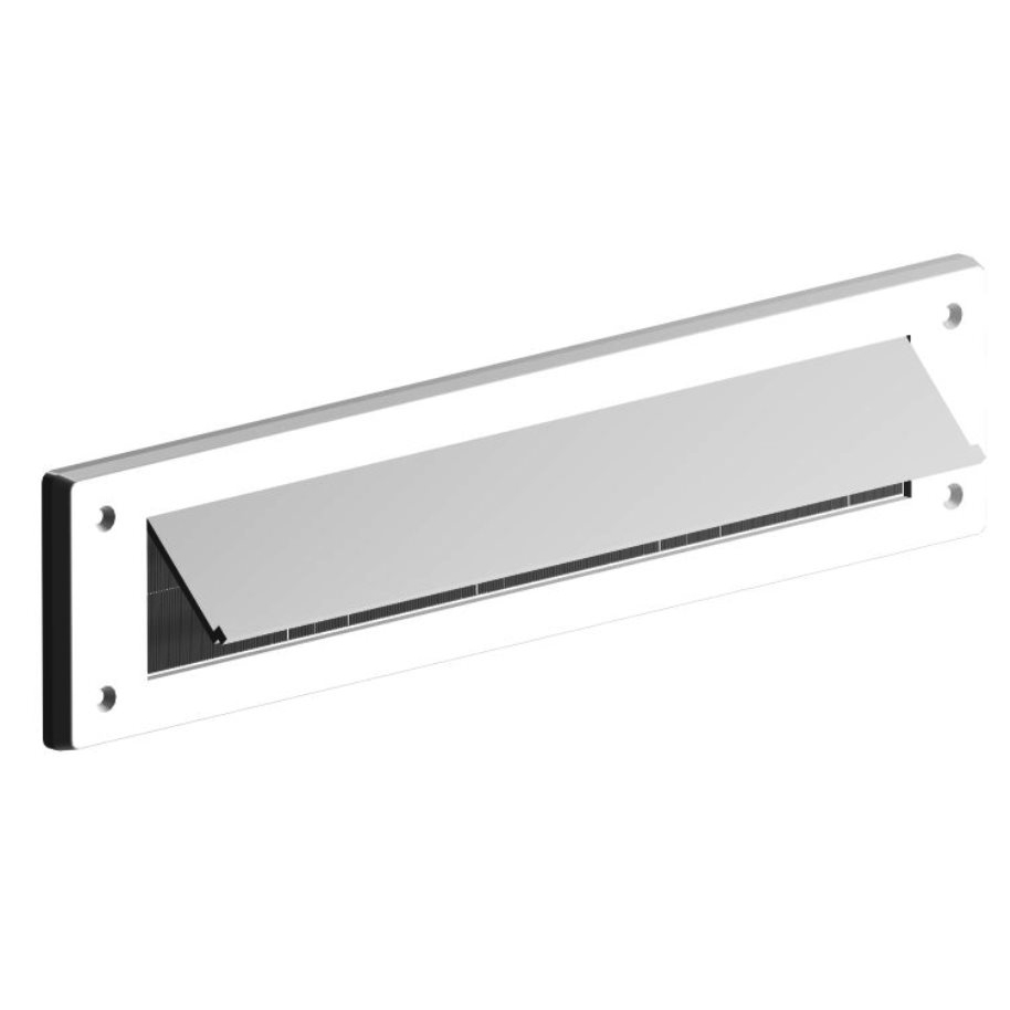 LETTER BOX DRAUGHT EXCLUDER WITH FLAP WHITE QTY:1