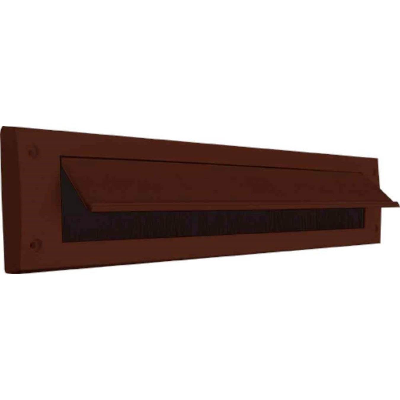 LETTER BOX DRAUGHT EXCLUDER WITH FLAP BROWN QTY:1