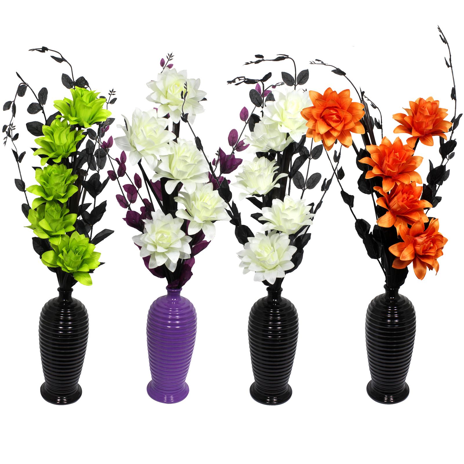 FLOURISH FLOWERS+VASE SILK FLOWERS 814A