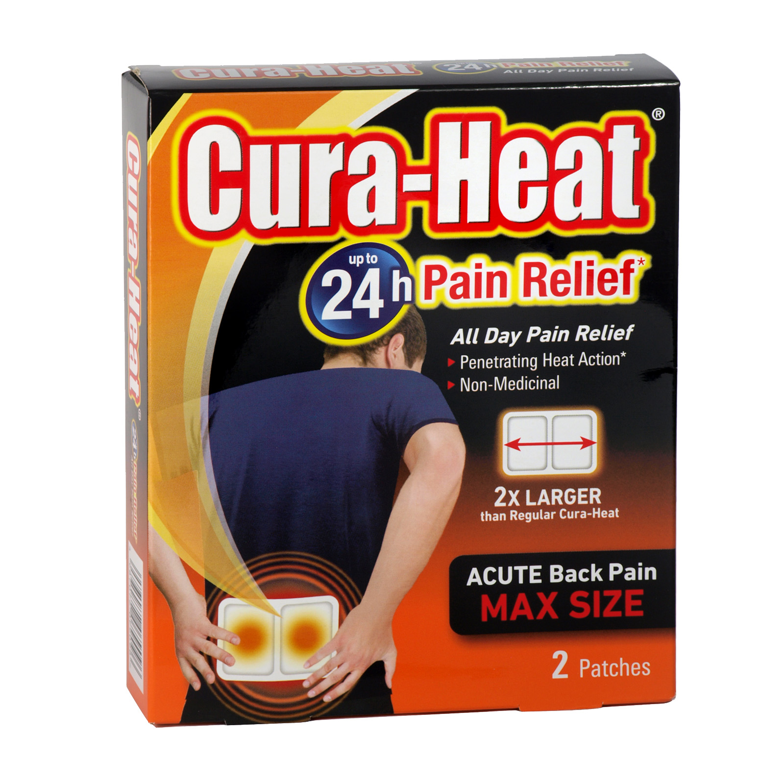 CURA-HEAT ACUTE BACK PAIN 2 PATCHES X5