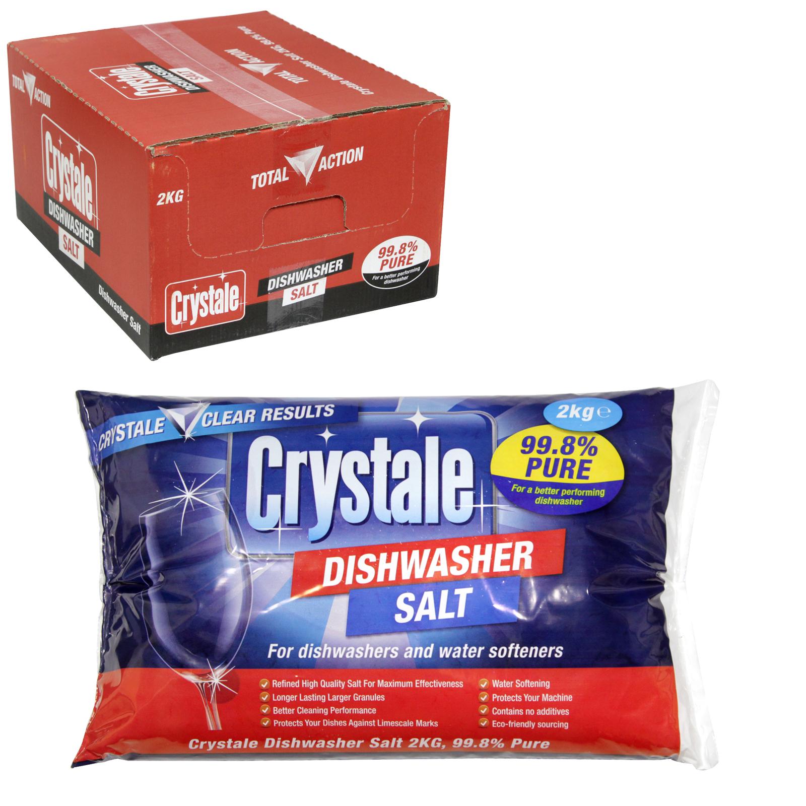 CRYSTALE DISHWASHER SALT 2 KILO BAG X6
