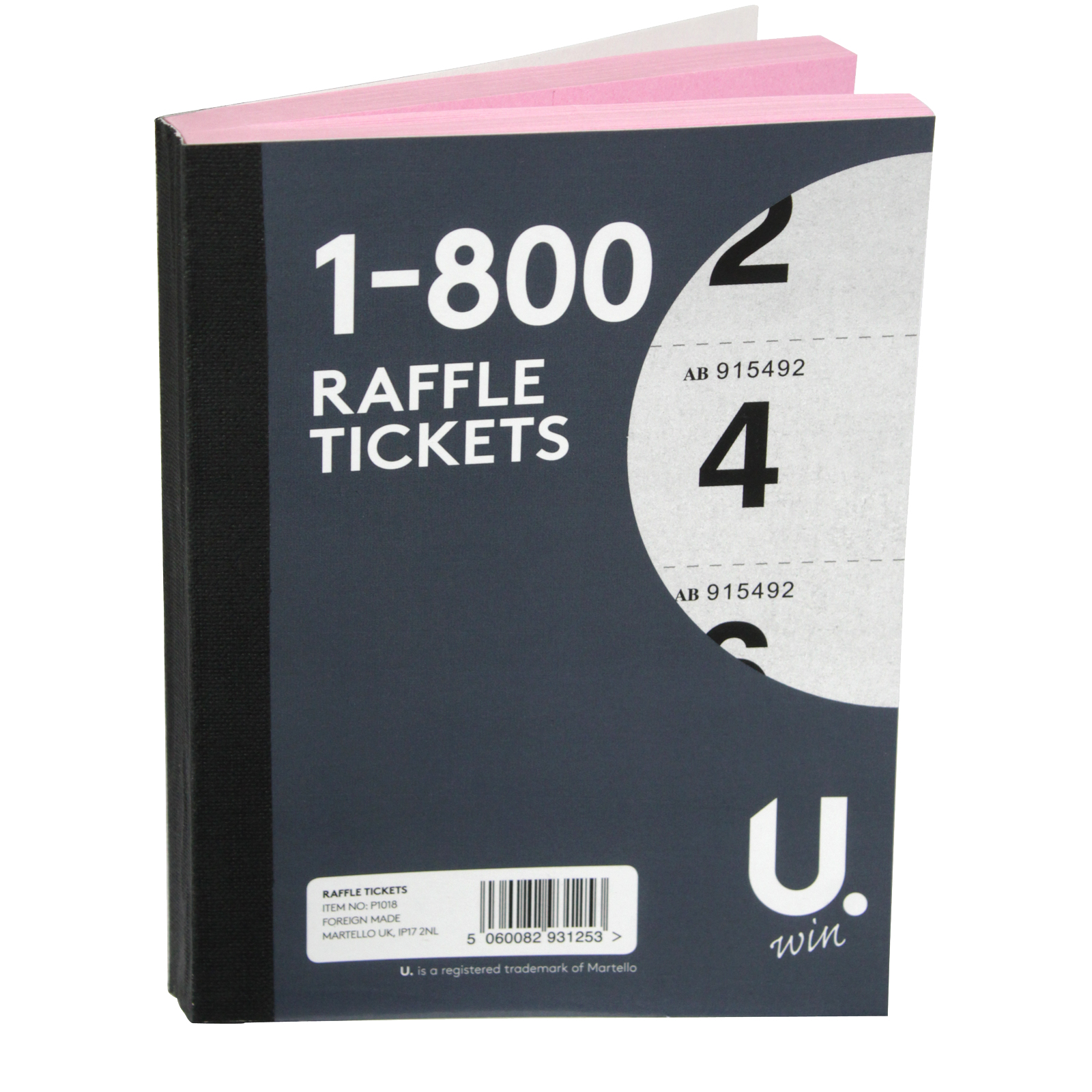 PENNINE RAFFLE TICKETS 1-800 X12