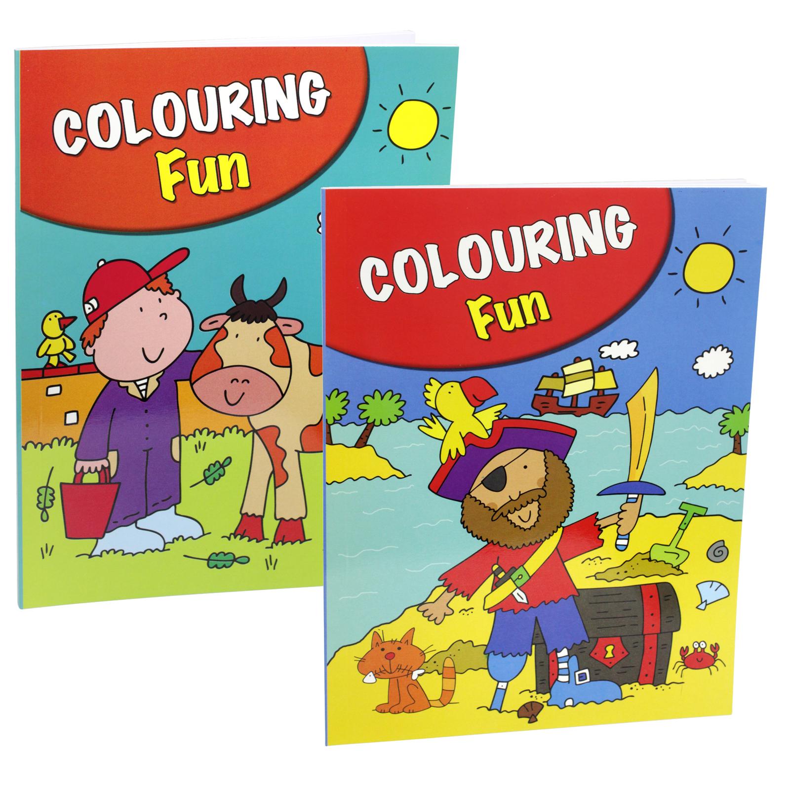PENNINE KIDS COLOURING FUN BOOK 1+2 X6