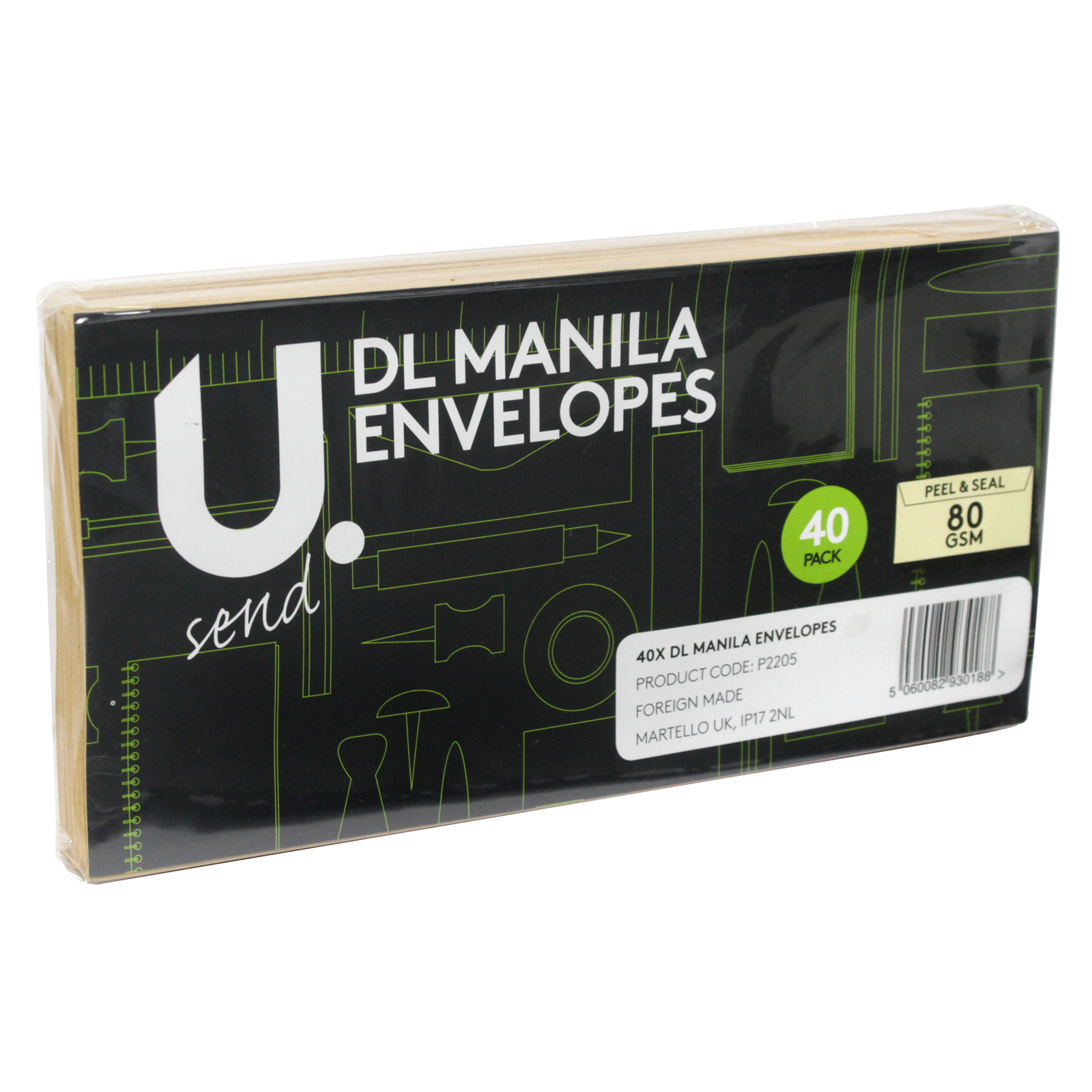PENNINE ENVELOPES DLX40PK MANILA X12