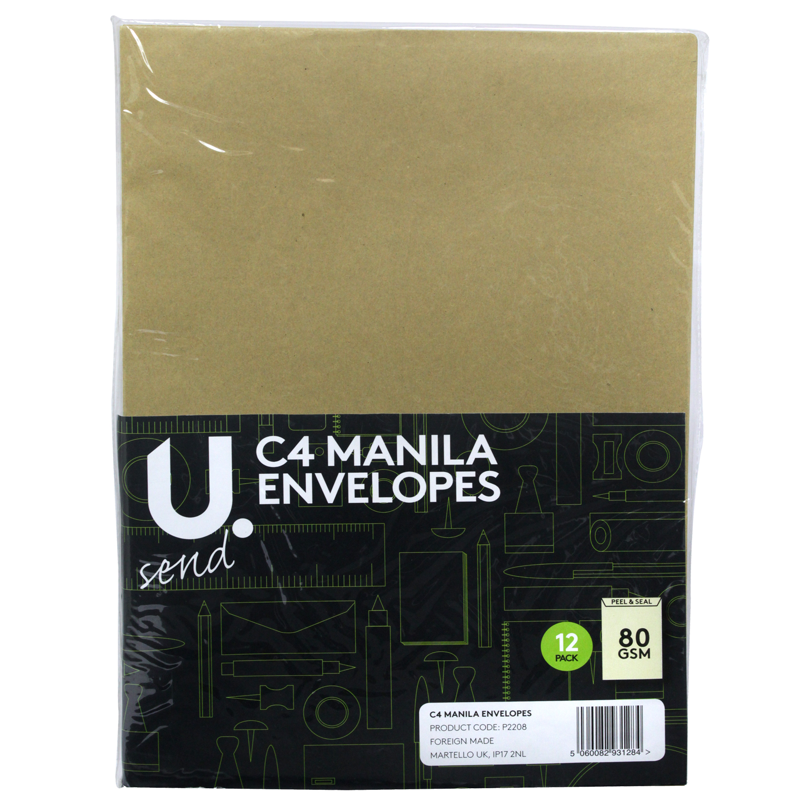 PENNINE ENVELOPES C4X12PK MANILA X12