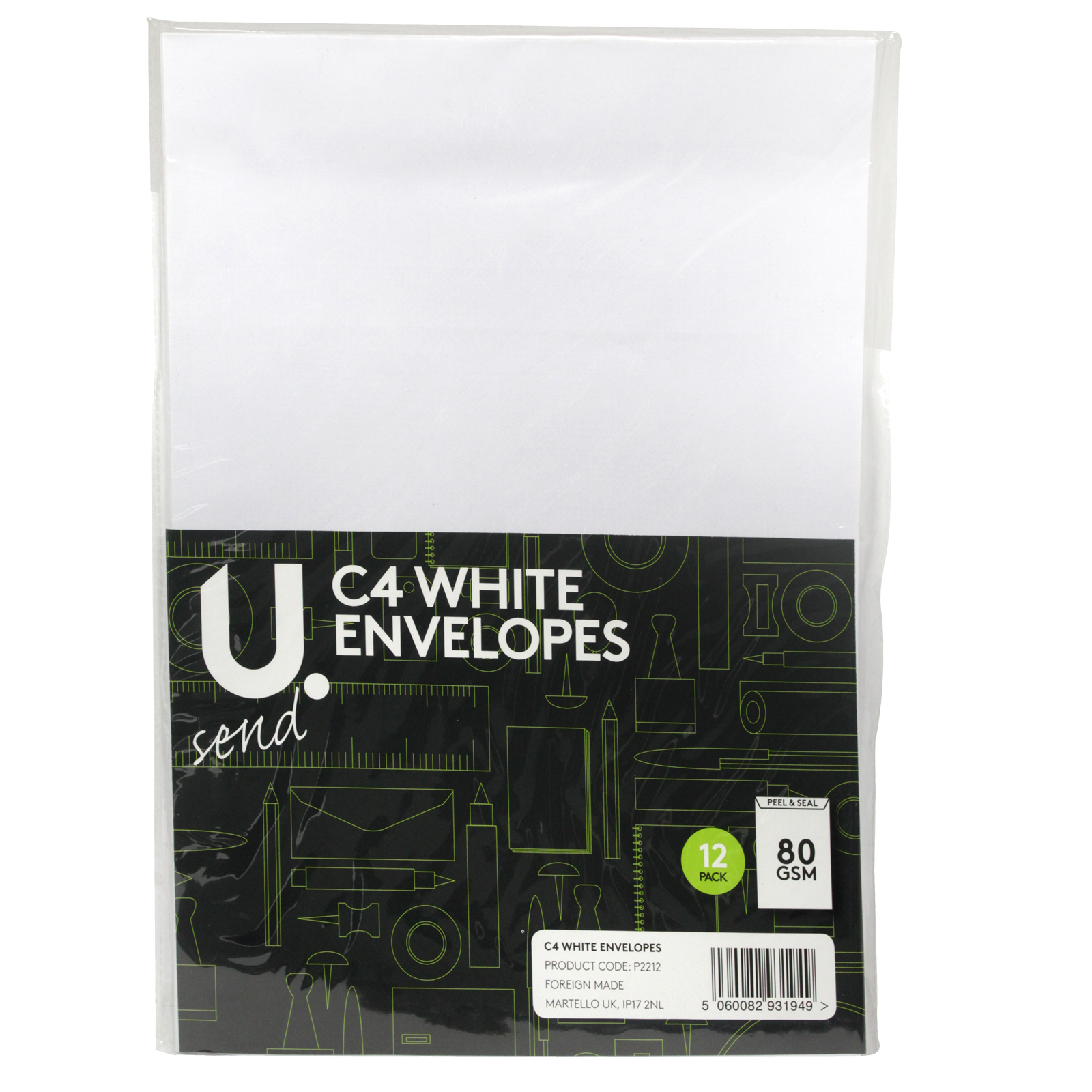 PENNINE ENVELOPES C4X12PK WHITE X12