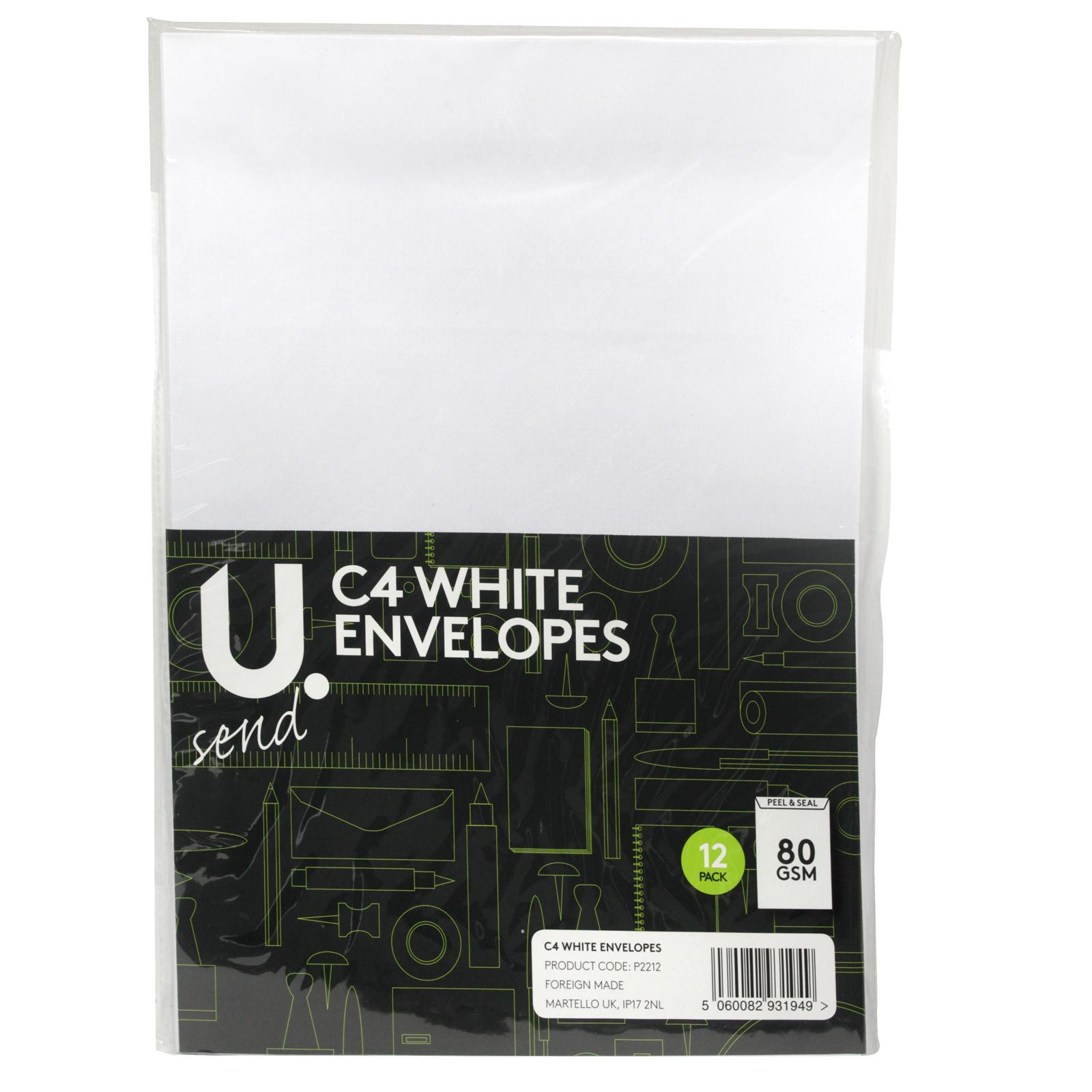 PENNINE ENVELOPES C4X12PK WHITE X12