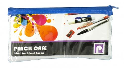 PENNINE PVC CLEAR PENCIL CASE X12