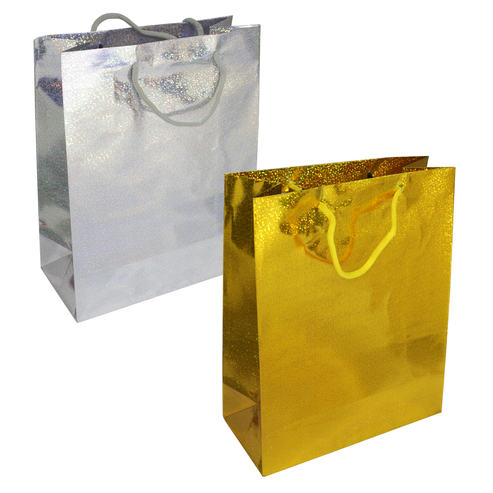 GIFT BAGS HOLOGRAPHIC BAG LARGE X12