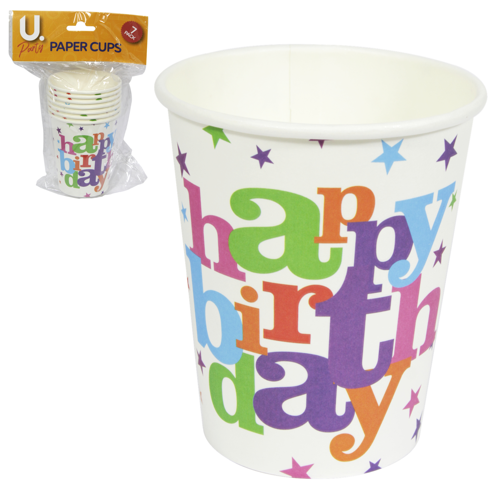 HAPPY BIRTHDAY PARTY CUPS 8S