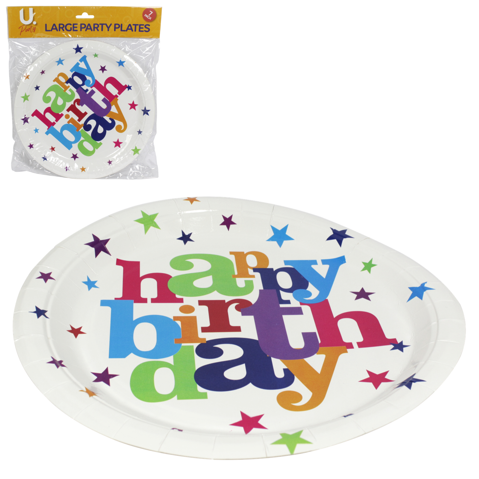 HAPPY BIRTHDAY PARTY PLATES 8X9