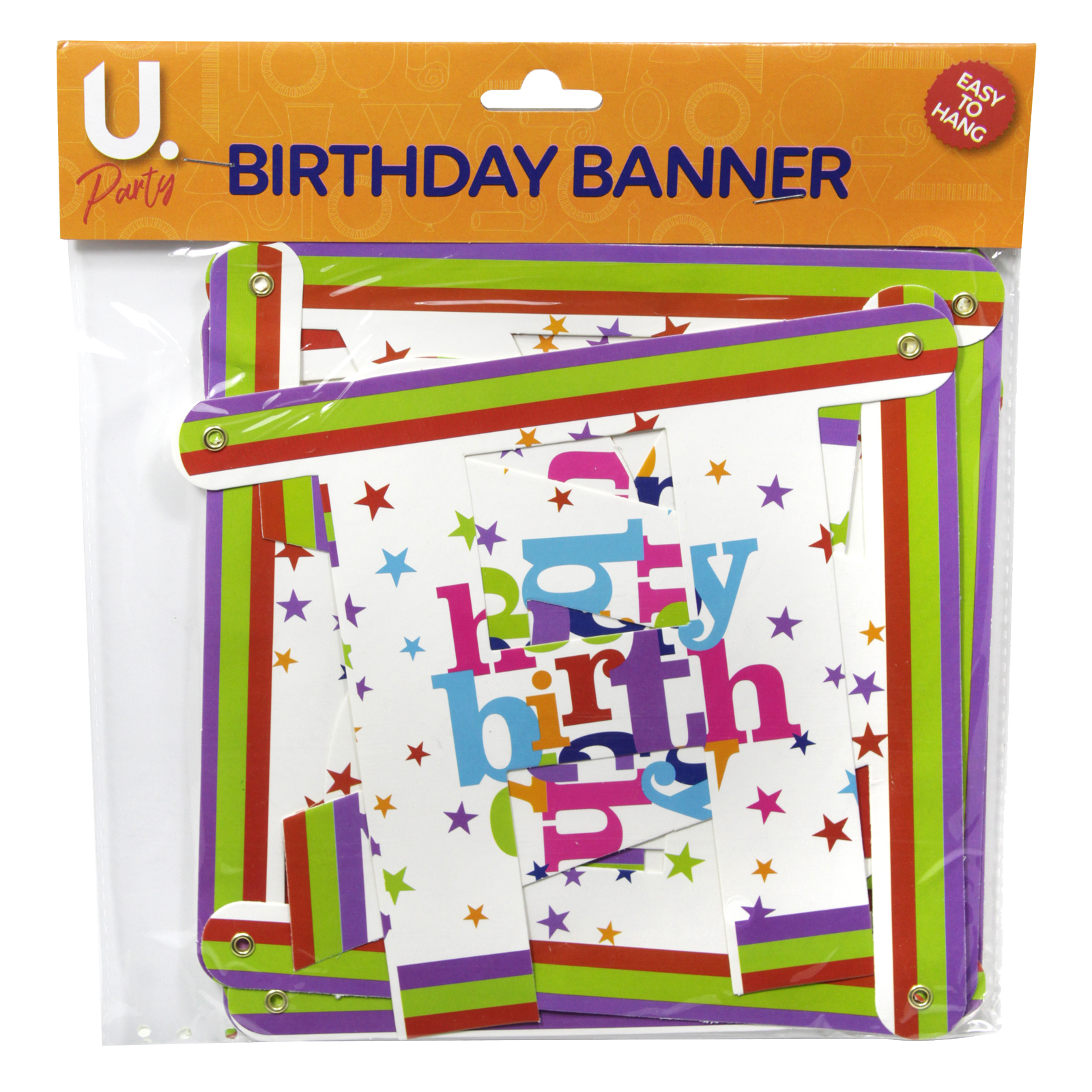 HAPPY BIRTHDAY PARTY BANNER