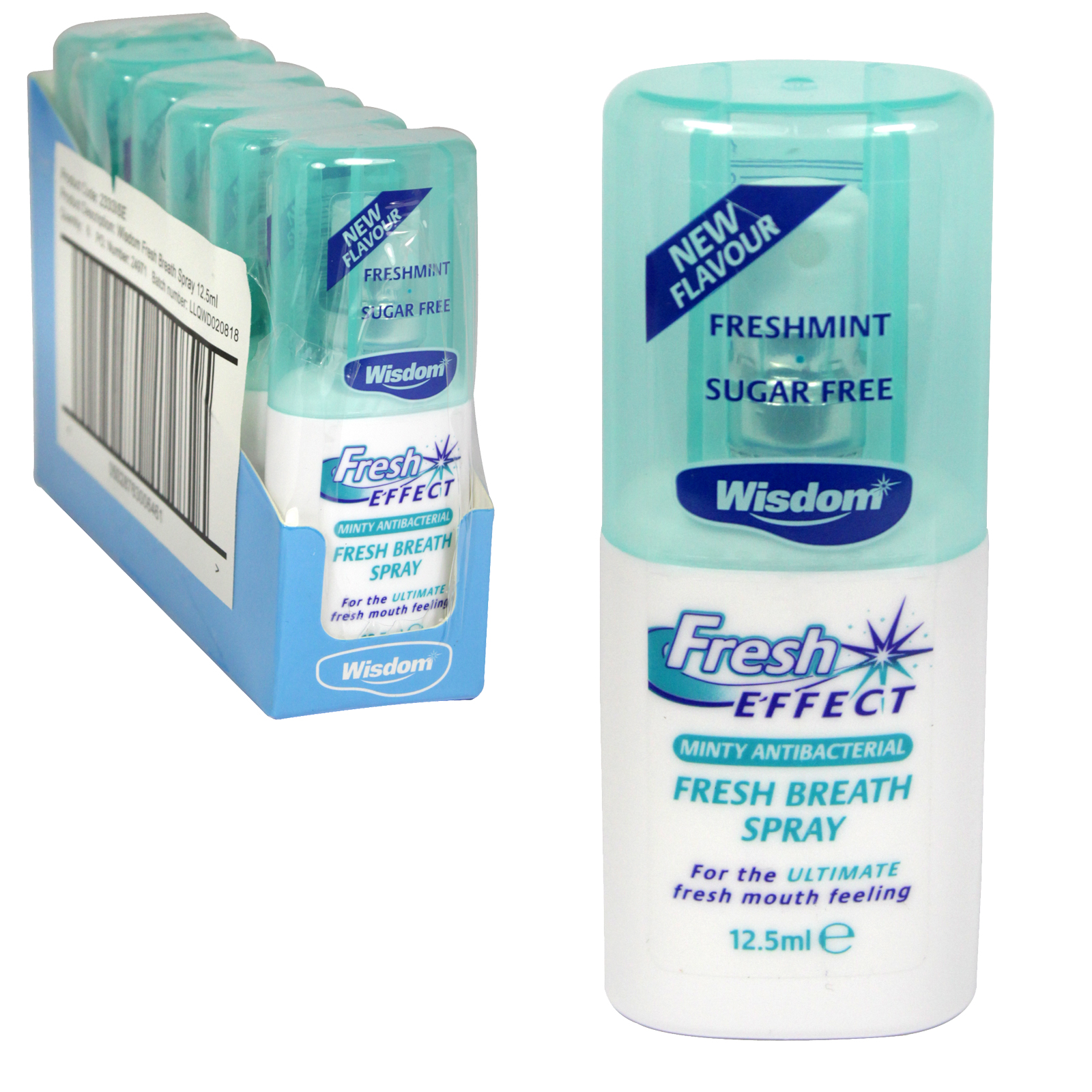 WISDOM FRESH EFFECT BREATH SPRAY 12.5ML X6