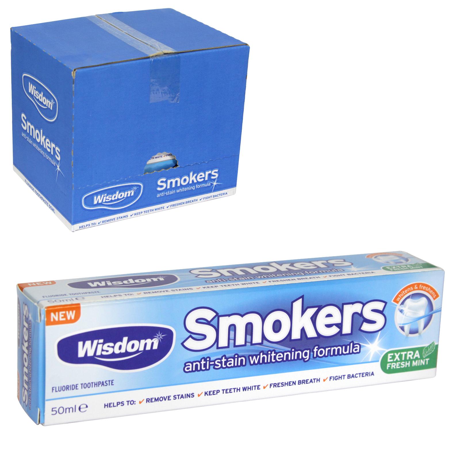 WISDOM SMOKERS TOOTHPASTE 50ML X12