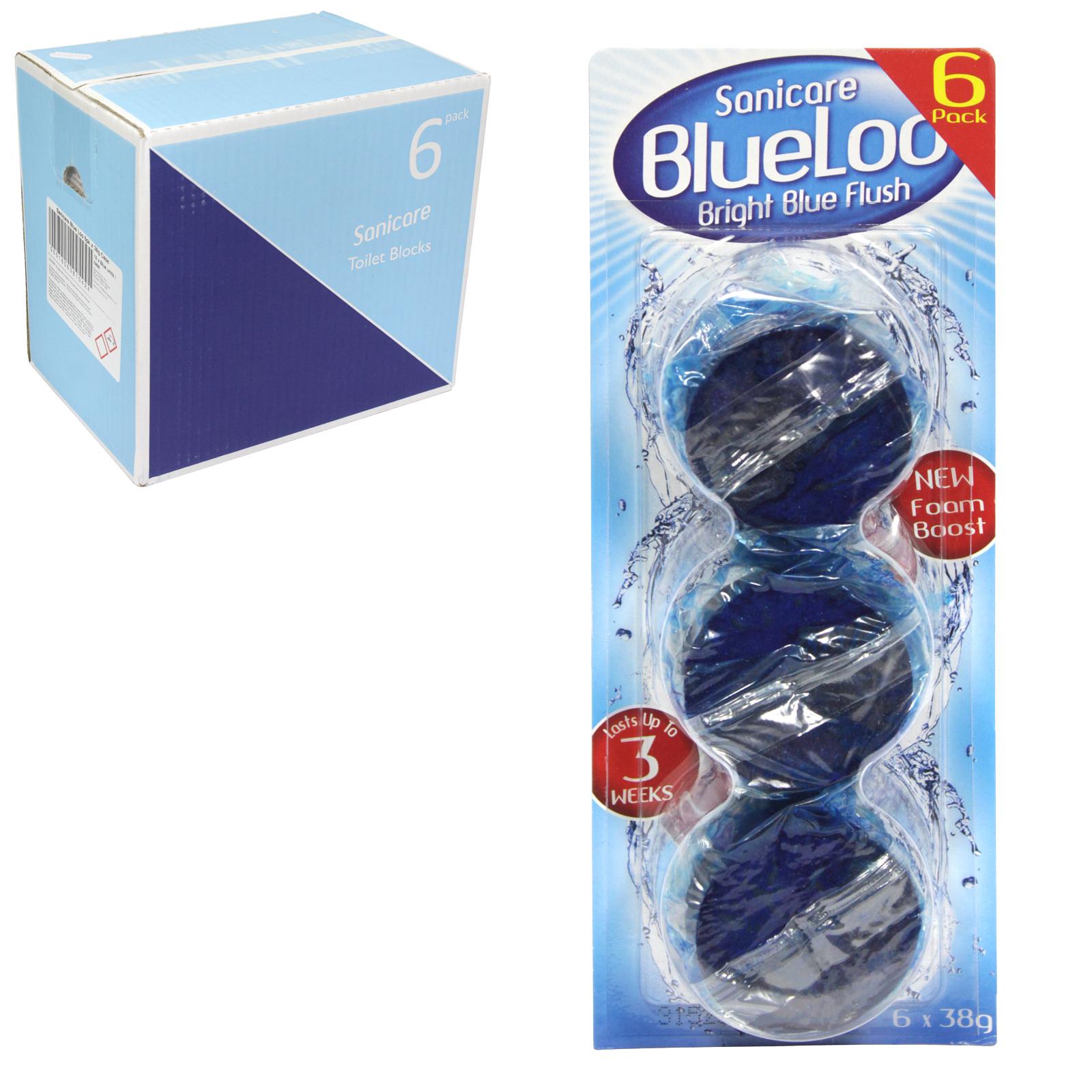 SANICARE 6X40GM TOILET BLOCKS BLUE X12