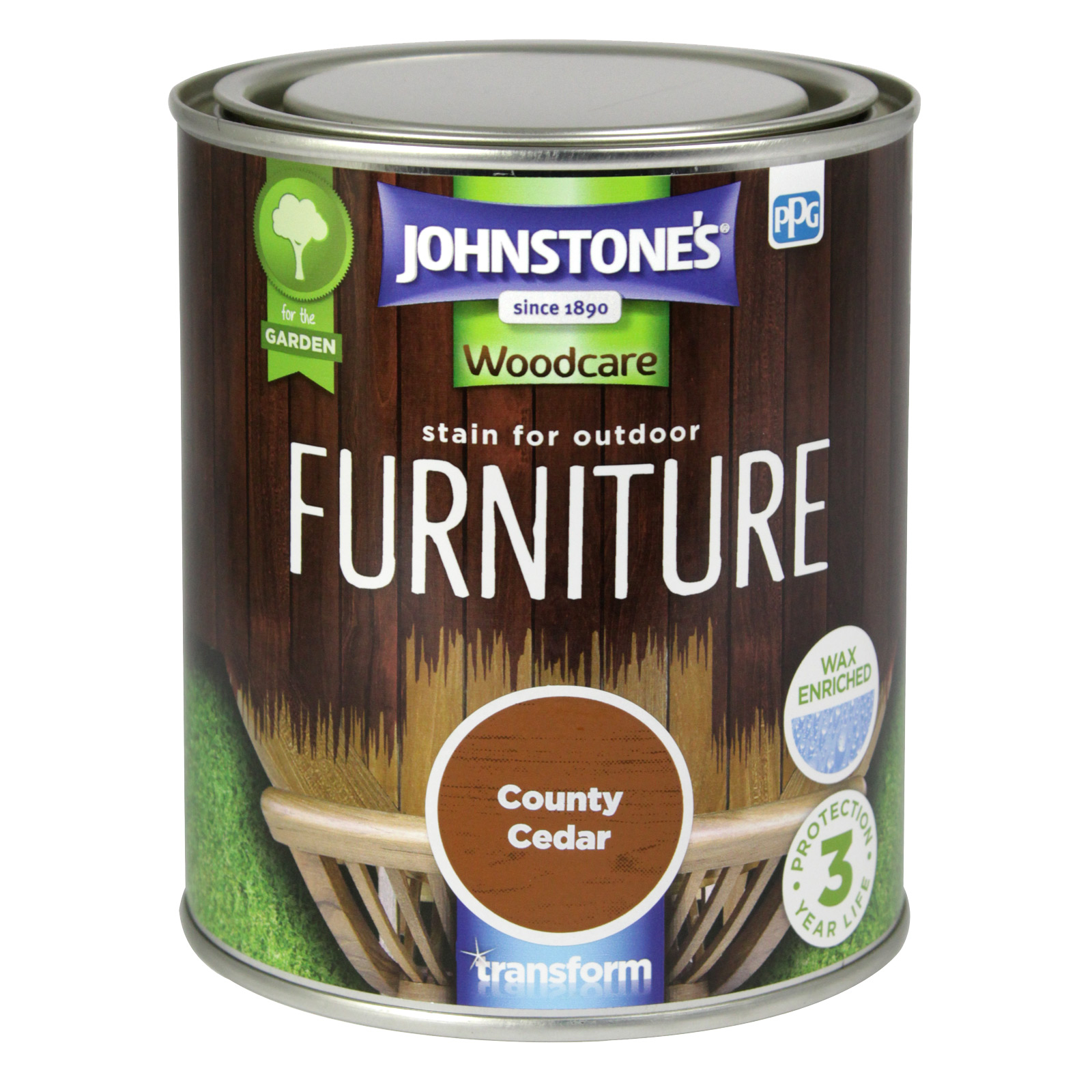 STAIN FOR OUTDOOR FURNITURE 750ML COUNTY CEDAR