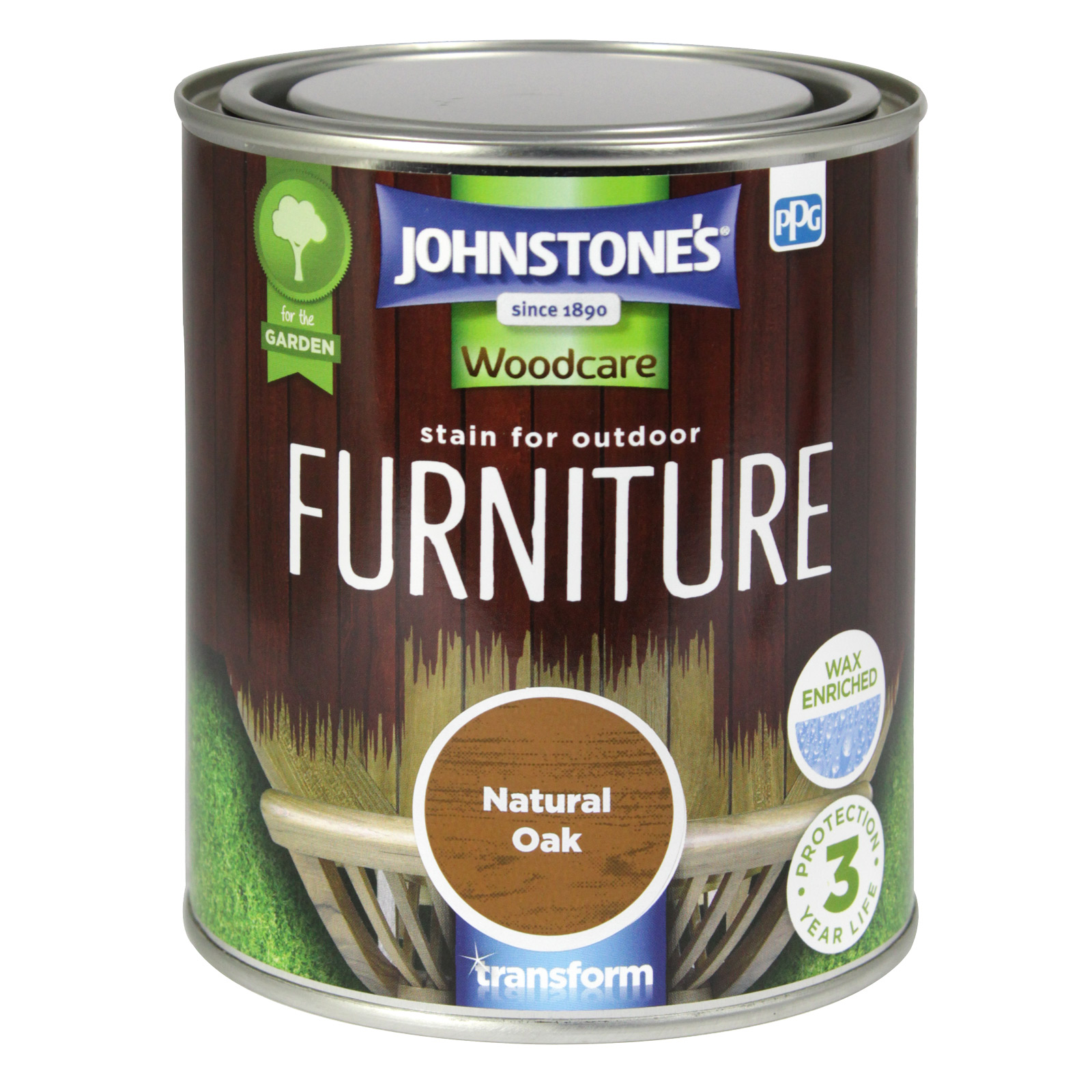 STAIN FOR OUTDOOR FURNITURE 750ML NATURAL OAK