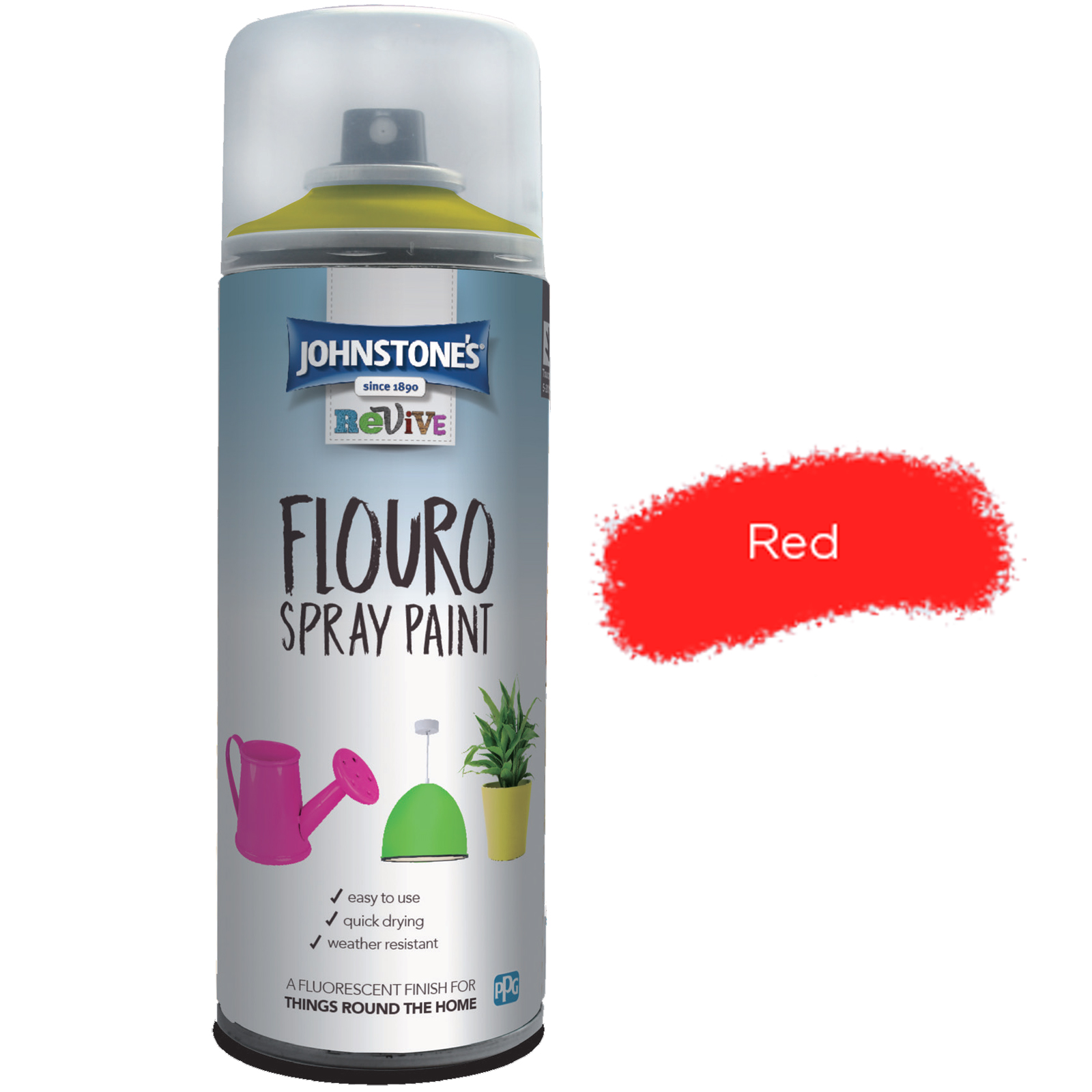 FLOURO SPRAY PAINT RED