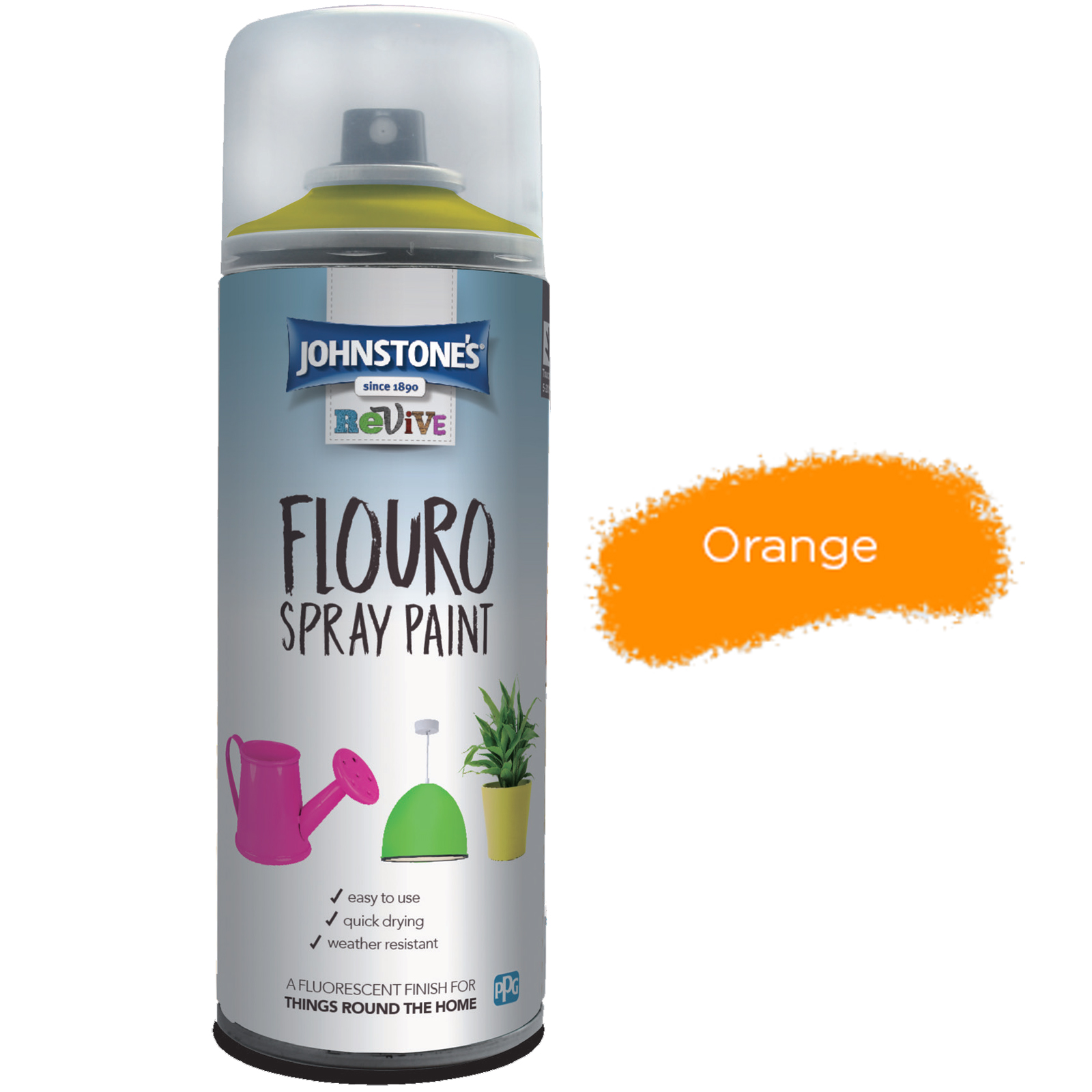FLOURO SPRAY PAINT ORANGE
