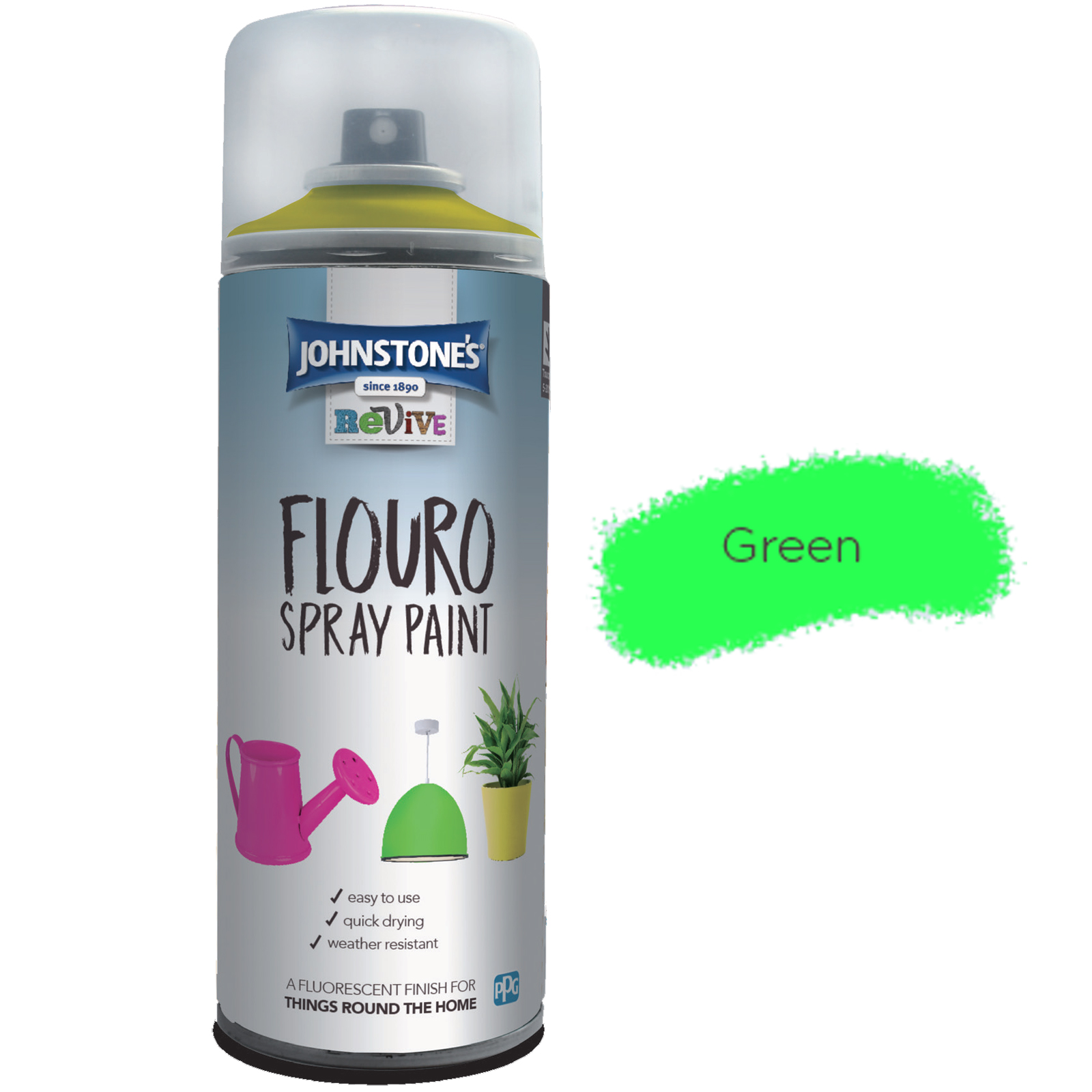 FLOURO SPRAY PAINT GREEN