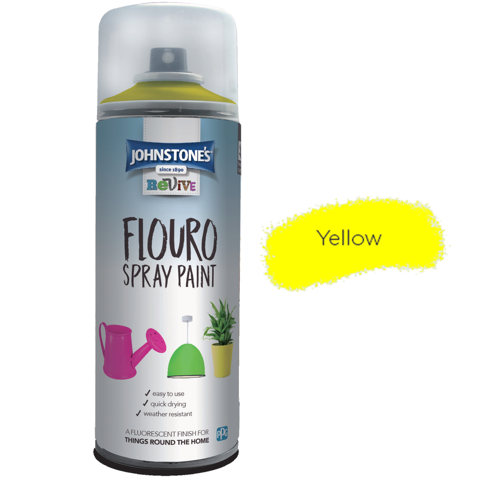 FLOURO SPRAY PAINT YELLOW
