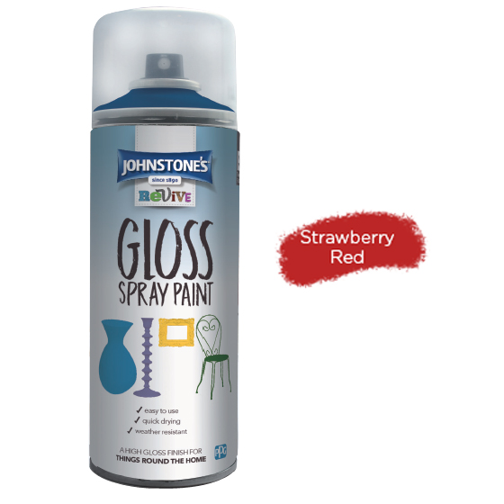 GLOSS FAST ACRYLIC SPRAY PAINT STRAWBERRY RED