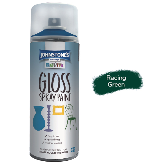 GLOSS FAST ACRYLIC SPRAY PAINT RACING GREEN