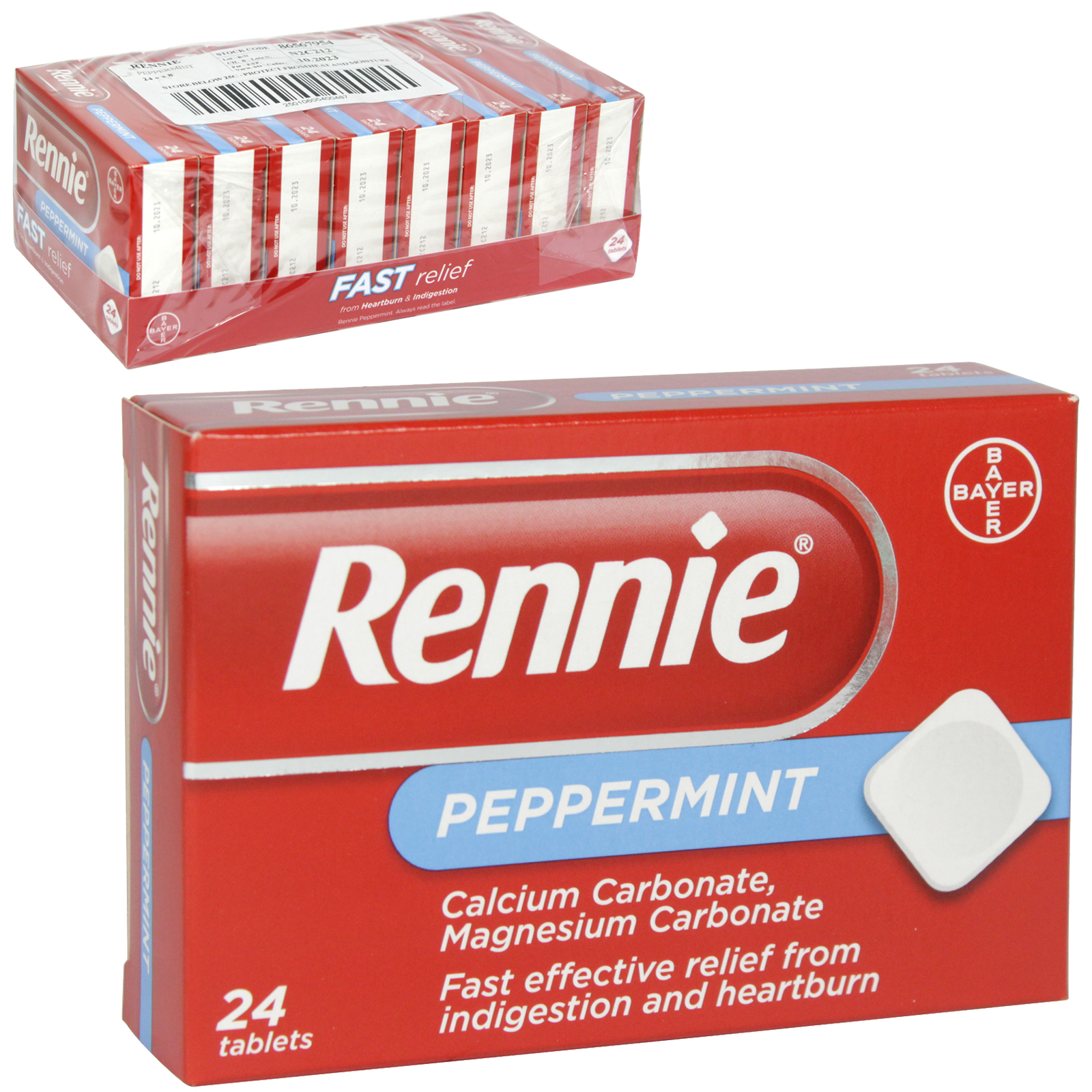 RENNIE DIGESTIF 24S PEPPERMINT X12 (NON RETURNABLE)