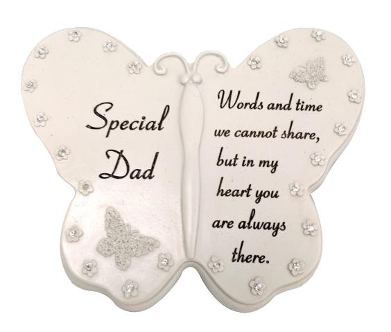 SPECIAL DAD DIAMANTE BUTTERFLY BOOK