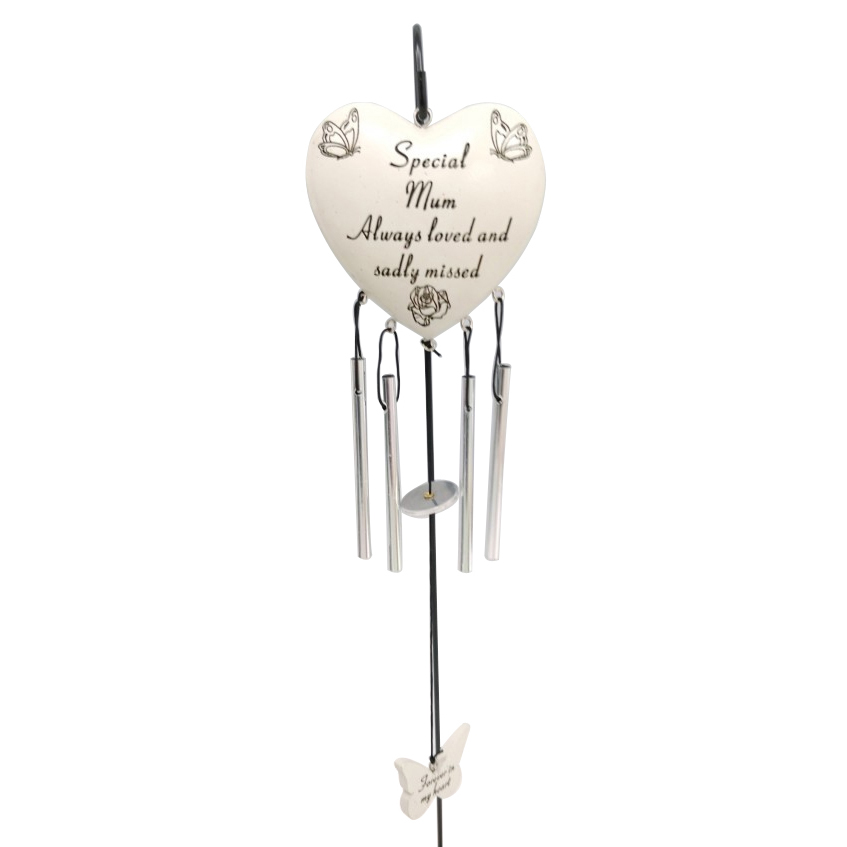 SPECIAL MUM HEART CHIME STICK 8X8CM