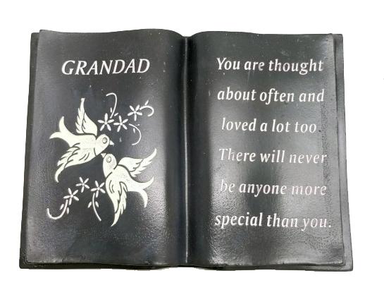 GRANDAD WHITE DOVE BOOK 12X18X8CM