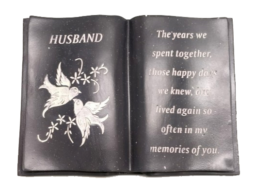 HUSBAND WHITE DOVE BOOK 12X18X8CM