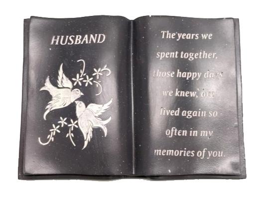 HUSBAND WHITE DOVE BOOK 12X18X8CM