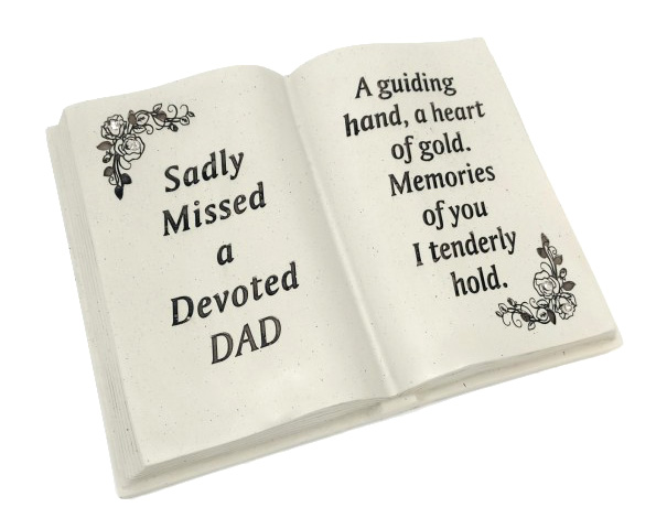 DAD MEMORIAL BOOK FLORAL DESIGN