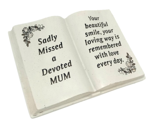 MUM MEMORIAL BOOK FLORAL DESIGN