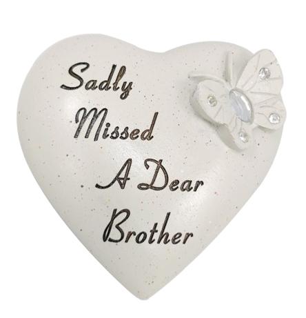 BROTHER DIAMANTE B/FLY HEART 9.5X 9CM