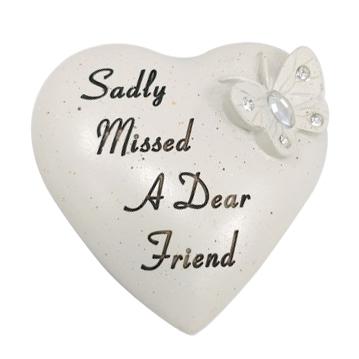 FRIEND DIAMANTE BUTTERFLY HEART 9.5X9CM